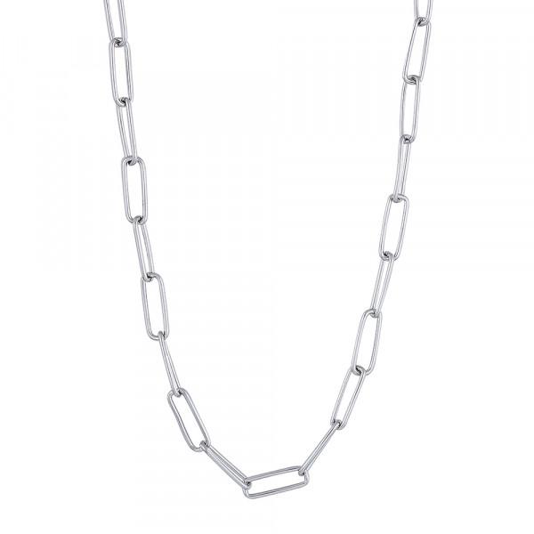 Rhd. Silber Halskette BOND52 50cm