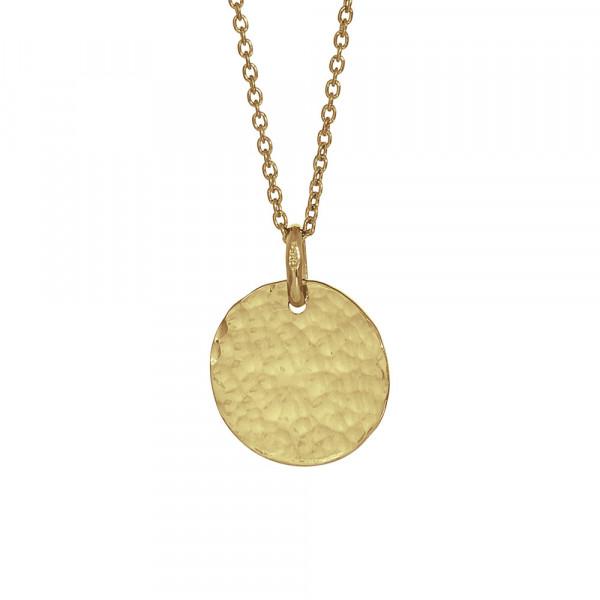 Vergoldet Halskette TWO-SIDED 15mm