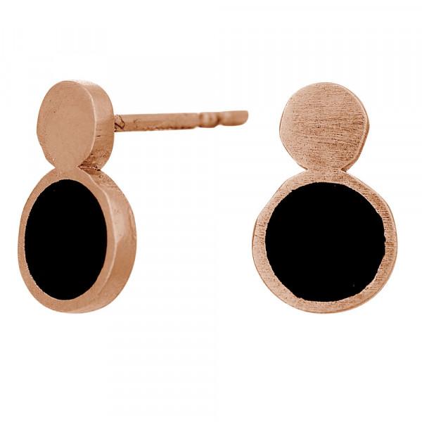 Ohrstecker Damen Ohrring BLACK 11mm