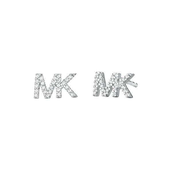Michael Kors Damen Ohrstecker Premium mit funkelnden Zirkonia und Logo in 925er Silber