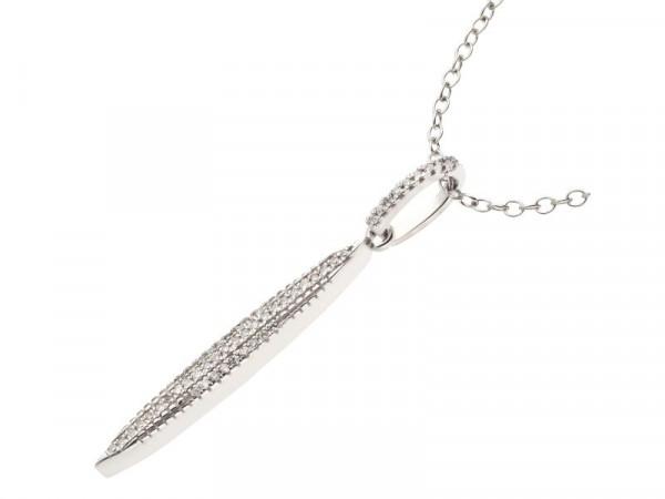 Damen-Halskette, DALINO 375 Weißgold mit 0,07 ct Diamanten