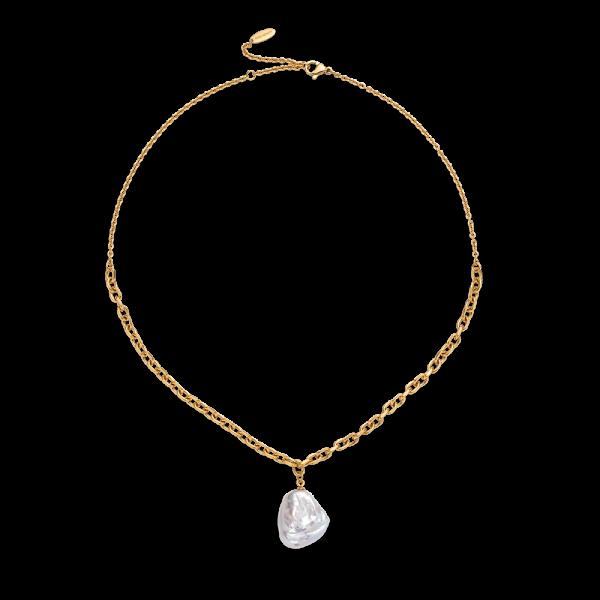 PAUL HEWITT Damen Halskette vergoldet mit weißer Perle