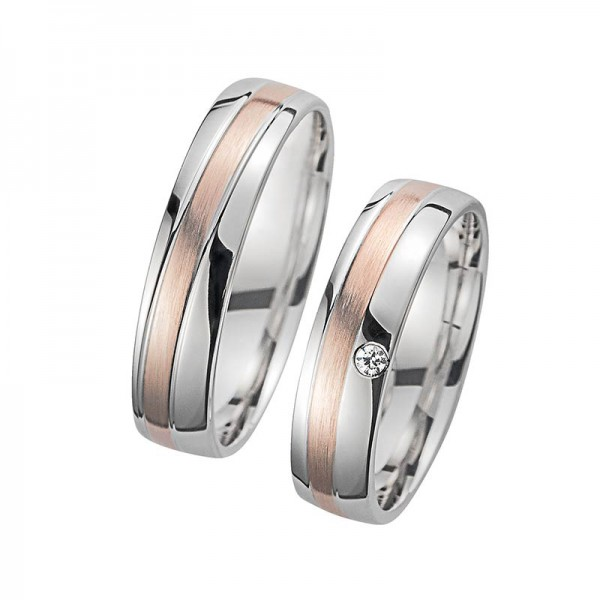 Trauringe Eheringe Bicolor Cilor Perfect Love Kollektion HR 84A