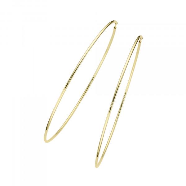 Da-lino Damen Creolen 925 Silber vergoldet groß