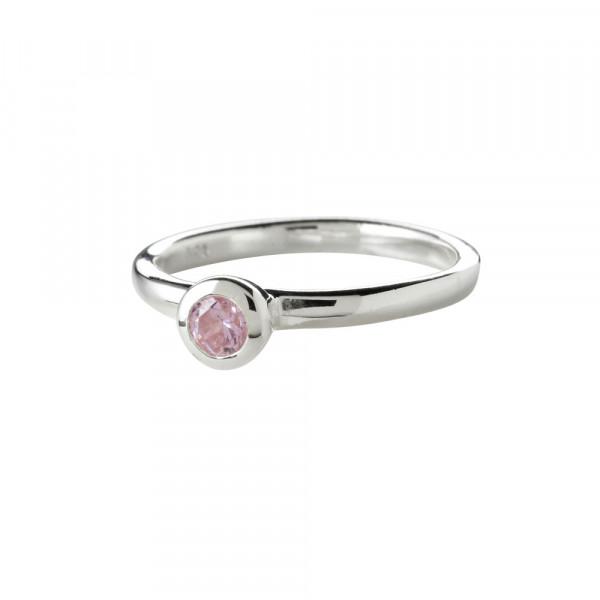 Kinder-Ring, NOA KIDS JEWELLERY silber mit rosa Zirkonia