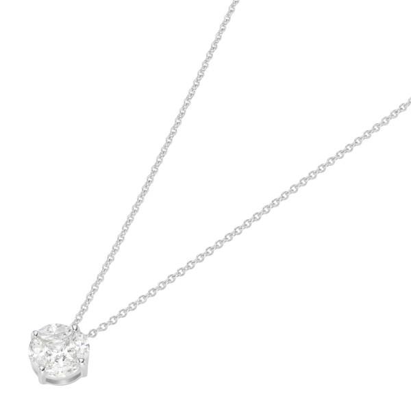 Da-lino Damen Halskette mit Anhänger 925 Silber mit Zirkon