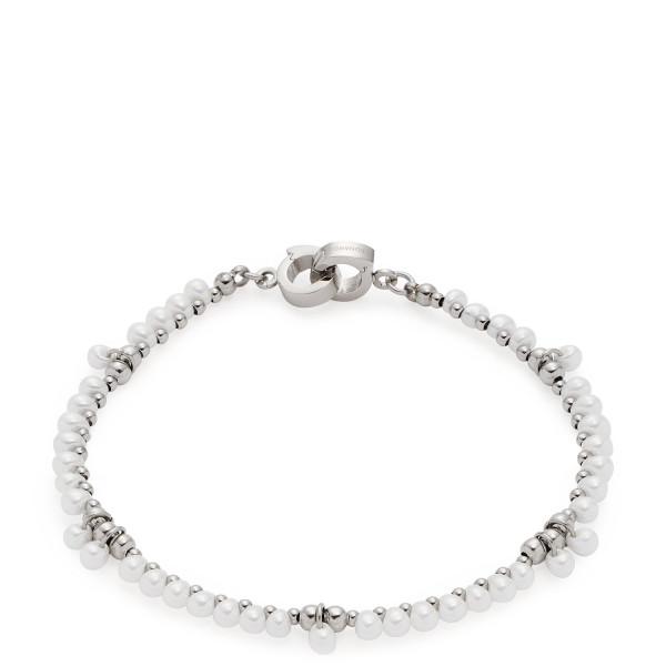 LEONARDO Armband Jasmina Clip & Mix mit weißen Glasperlen