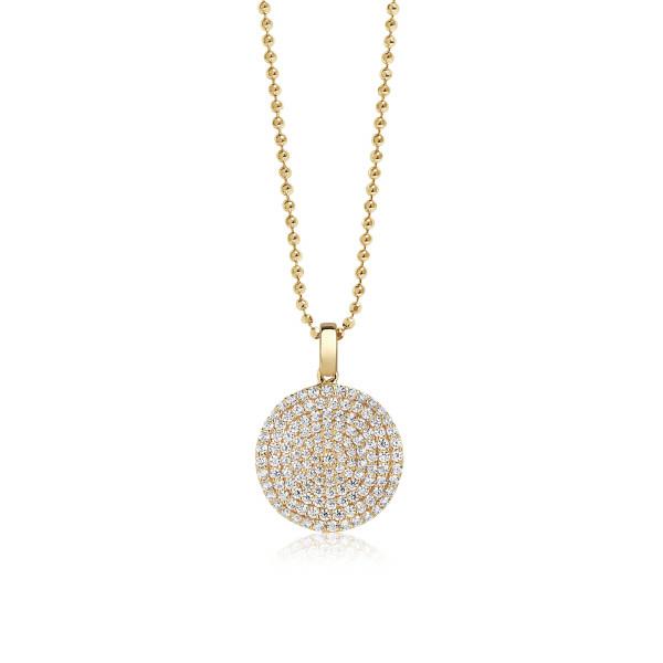 Sif Jakobs Damen Halskette Monterosso 18K vergoldet mit weißen Zirkonia-Copy