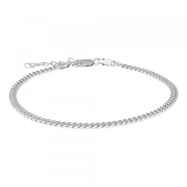 Nordahl Jewellery Damenfusskettchen Rhod. Silber FusskettechenPANZER52 23+4cm