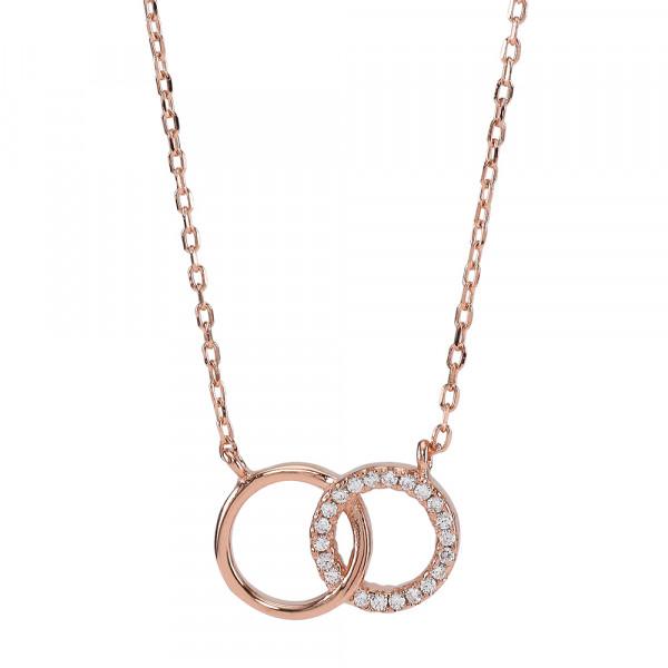 Damenhalskette Halskette ANNA 2 Kreise