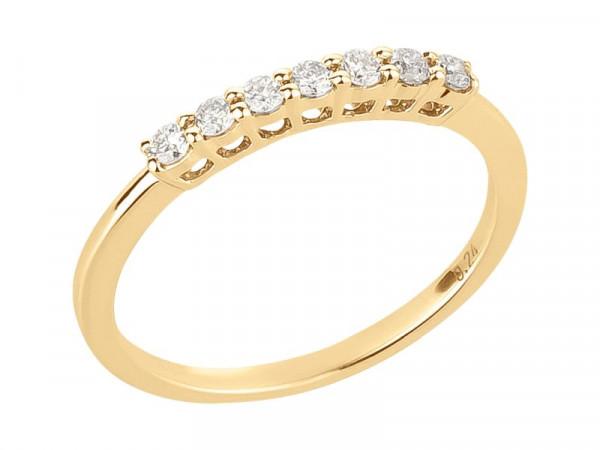 Damen-Ring, DALINO 375 Gold Halb-Memory Ring mit 0,24 ct Diamanten