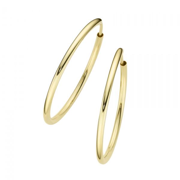 Da-lino Damen Creolen 925 Silber vergoldet