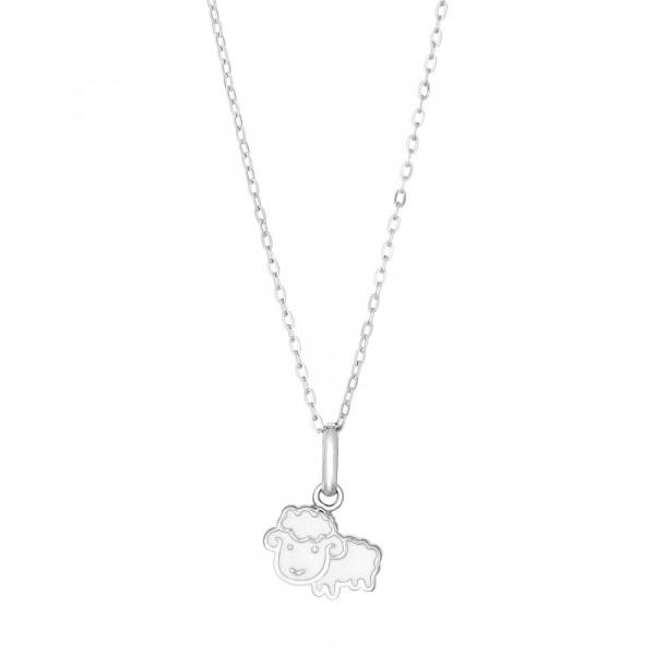 Kinder-Halskette Rhod. Silber Schaff