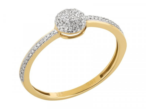 Damen-Ring, DALINO 375 Gold mit 0,09 ct Diamanten
