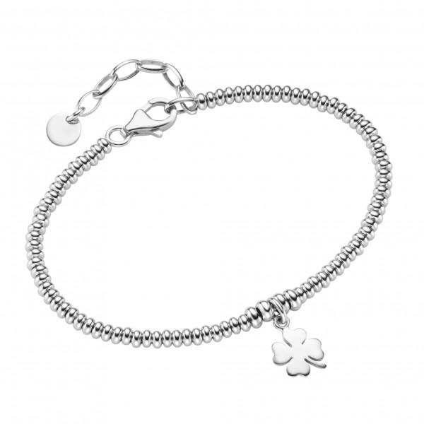 Da-lino Damen Armband mit Kleeblattanhänger in 925 Silber