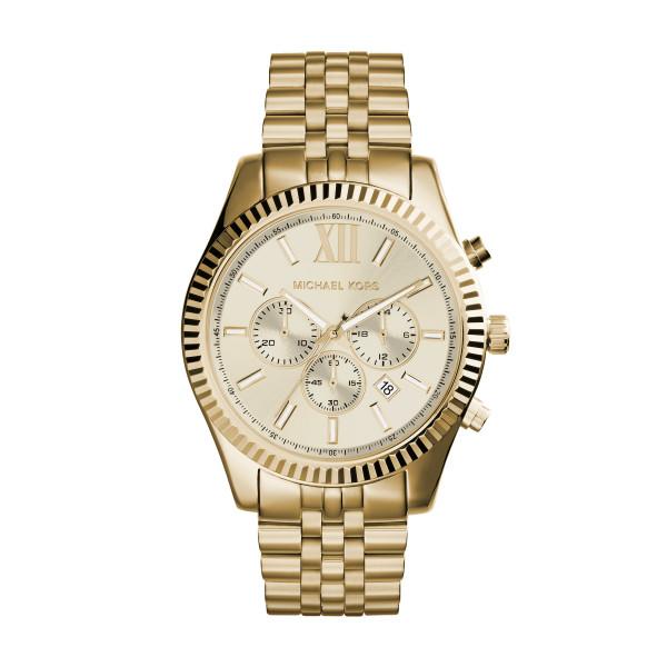 Michael Kors Herrenuhr Chronograph Quarz in Gold