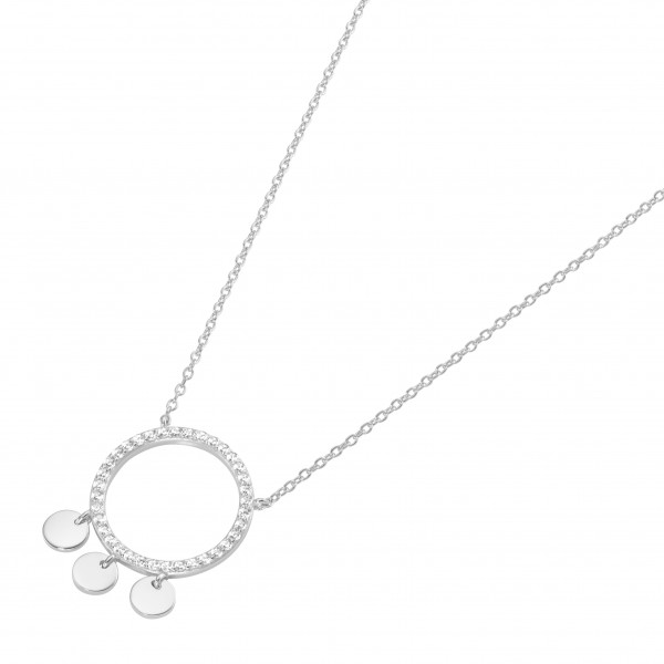 Da-lino Damen Halskette in 925 Silber mit Zirkonia Anhänger