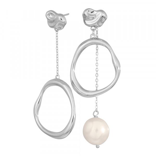 Nordahl Jewellery Damen - Perlen Ohrhänger BAROQUE52 aus Sterling Silber mit Süßwasserperle