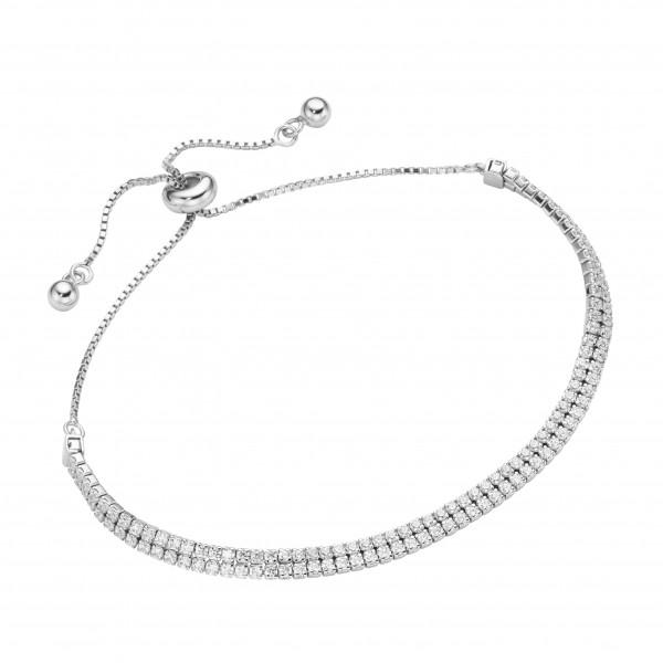 Da-lino Damen Doppelreihiges Tennisarmband in 925 Silber