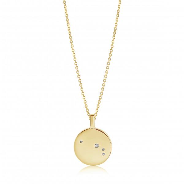 Sif Jakobs Damen Halskette Widder Sternzeichen Zodiaco 18K vergoldet mit weißen Zirkonia