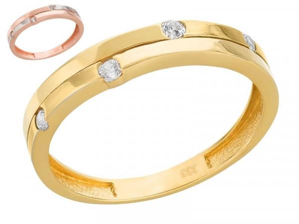 Damen-Ring, DALINO 333 Gold mit Zirkonia-Steine