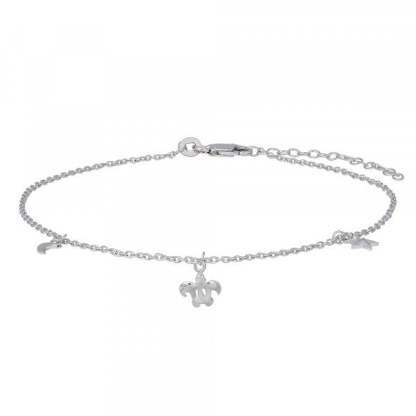 Nordahl Jewellery Damenfusskettchen Rhod. Silber Fusskettchen BEACH52 27cm