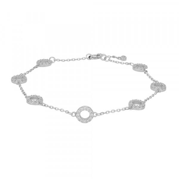 Joanli Nor Damenarmband silber mit runden Plättchen Armband ANNA 845 067