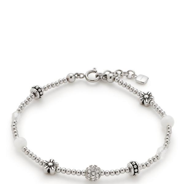 Damen-Armband, CIAO! BY LEONARDO silber mit Schliffglasperlen und Zirkonia Laura