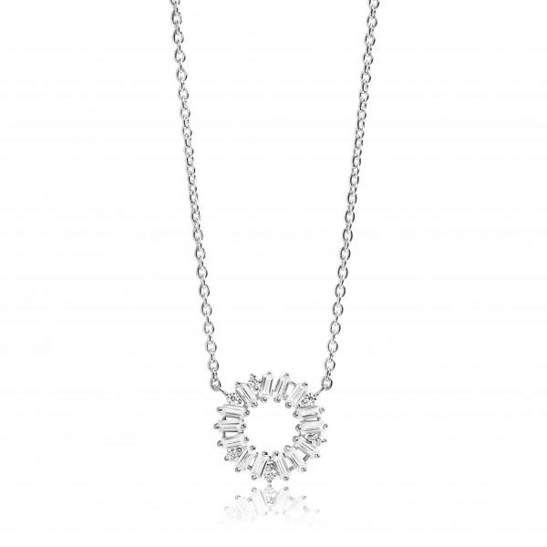 Sif Jakobs Damenhalskette Halskette Antella Circolo mit weißen Zirkonia SJ-C0162