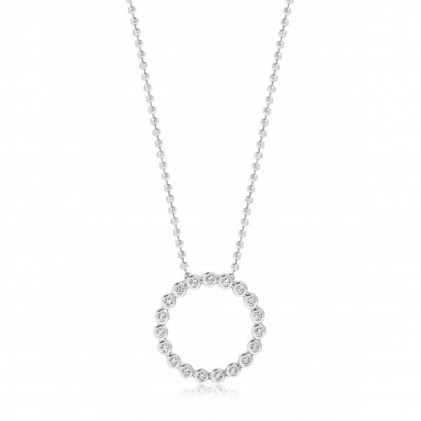 Sif Jakobs Damen Halskette Sardinien Circolo 925er Silber mit weißen Zirkonia