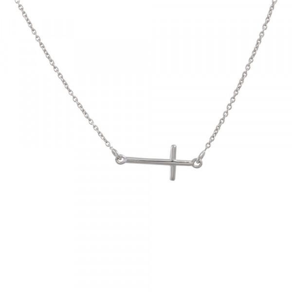 Damen-Halskette Kreuz 45+5cm
