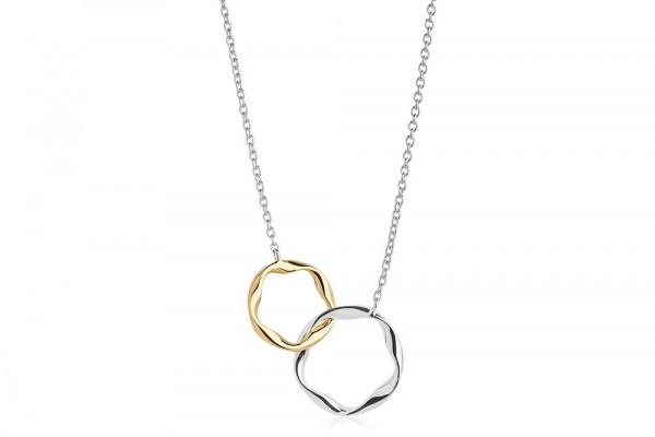 Sif Jakobs Damen Halskette Cetara Pianura Due 925er Silber 18k vergoldet