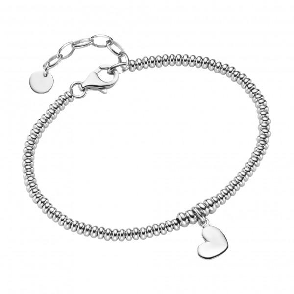 Da-lino Damen Armband mit Herzanhänger in 925er Silber