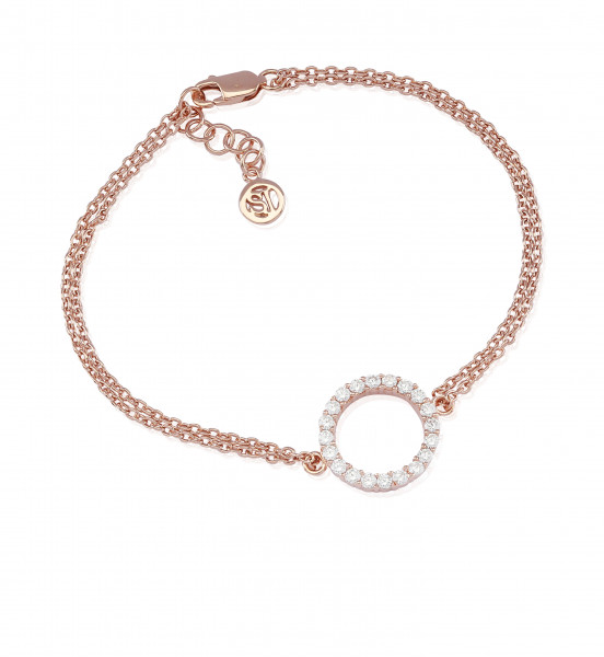 Sif Jakobs Armband Biella Grande 18K rosévergoldet mit weißen Zirkonia