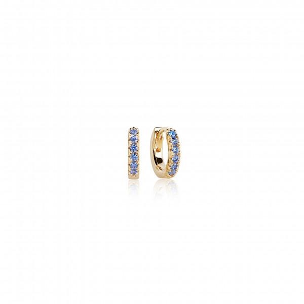 Ohrringe Ellera Piccolo - 18Kvergoldet mit blau Zirkonia