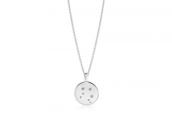 Sif Jakobs Damen Halskette Waage Sternzeichen Zodiaco 925er Silber mit weißen Zirkonia