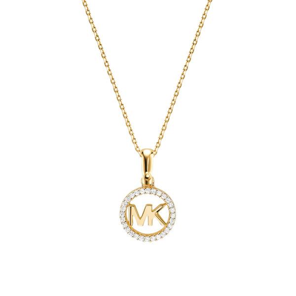 Michael Kors Damen Halskette vergoldet mit Zirkonia