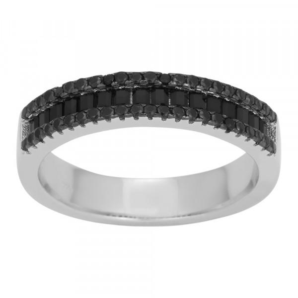 Damenring Ring AGGA Baguette Zirkonia 5mm