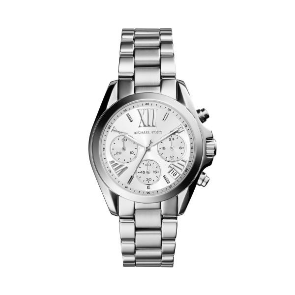 Michael Kors Uhr Damen Chronograph in Silber Datum