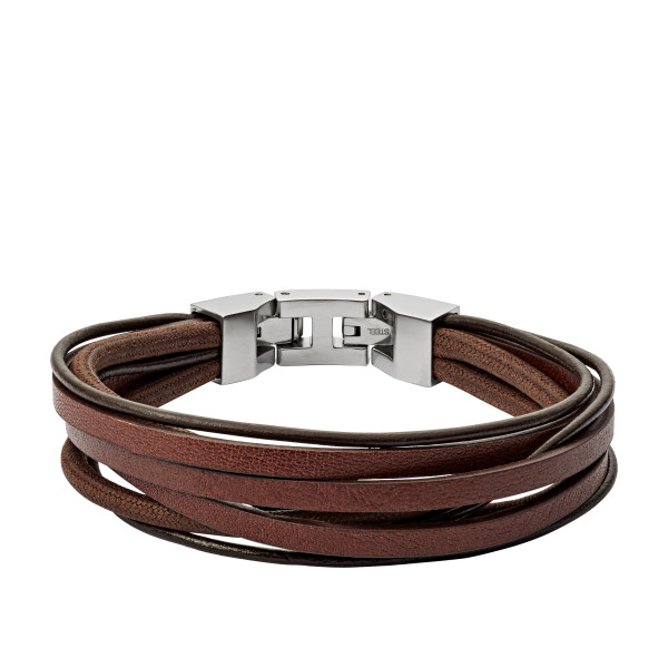 Fossil Herren Armband Braun Vintage Casual