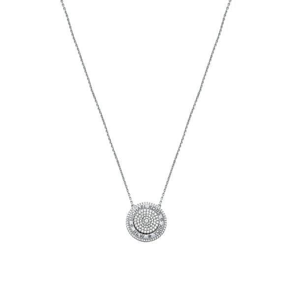Michael Kors Damen Halskette mit Anhänger PREMIUM in 925er silber