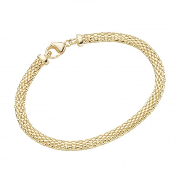Da-lino Damen Mesh-Armband in 925 Silber vergoldet