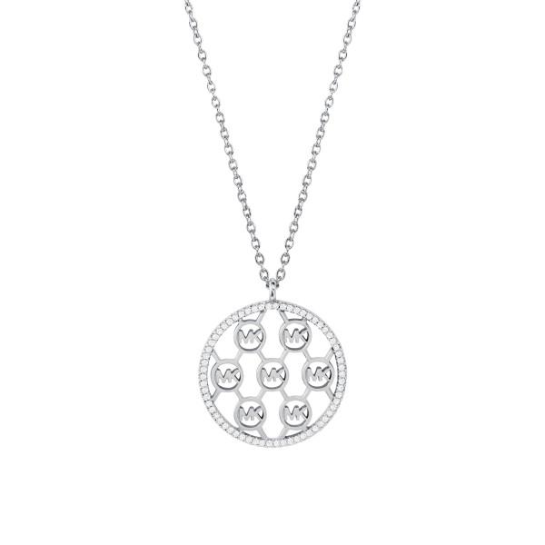 Michael Kors Damen Halskette 925er Silber Anhänger Rund