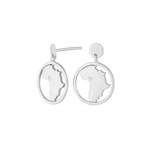 Nordahl Jewellery Damen - Ohrstecker aus Sterling Silber