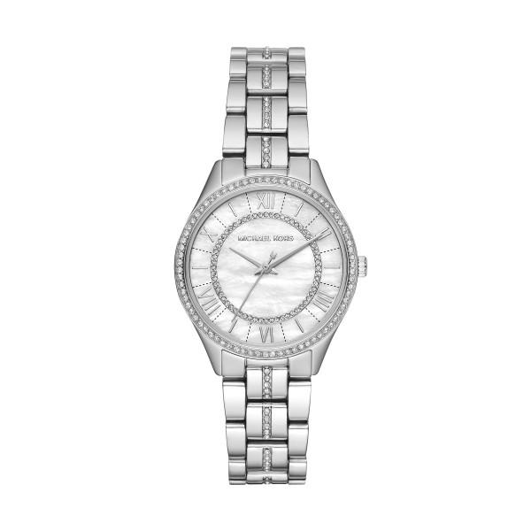Michael Kors Uhr Damen mit Perlmutt Ziffernblatt Edelstahl Silber