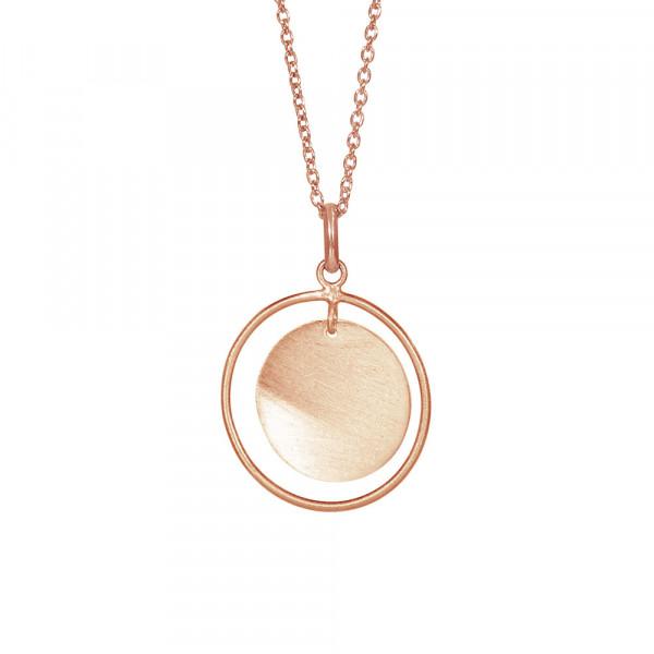 Rosévergoldet Silber Halskette TASSEL 20mm