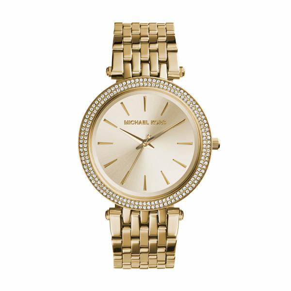 Michael Kors Uhr Damen in Gold mit Zirkoniasteinen