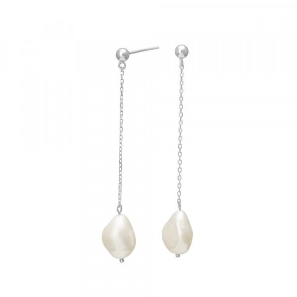 Nordahl Jewellery Damen-Ohrstecker aus Sterling Silber mit Süßwasserperlen