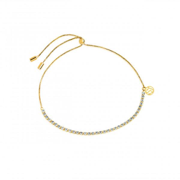 Sif Jakobs Damen Armband Ellera 18K vergoldet mit weissen Zirkonia