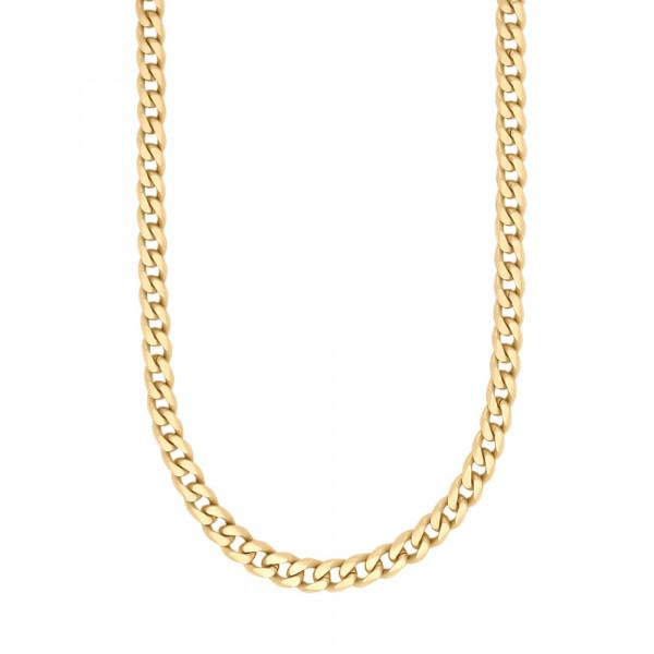 SON of NOA Herren-Halskette Halskette STAHL Panzer vergoldet gebürstet 60cm